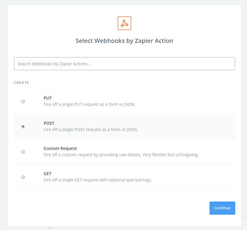 zapier integration - webhook post